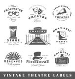 Ensemble de labels de théâtre de vintage Photo stock