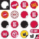 Ensemble de labels de vecteur de vente. Image stock