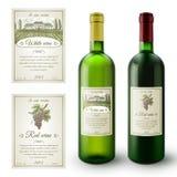 Ensemble de labels de vin illustration de vecteur