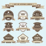 Ensemble de labels de vintage Photos libres de droits