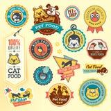 Ensemble de labels et d'autocollants d'animal Image stock