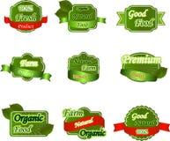 Ensemble de labels frais de la meilleure qualité naturels Image stock