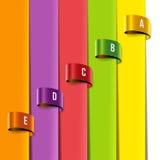 Ensemble de labels multicolores d'étiquette Photos stock