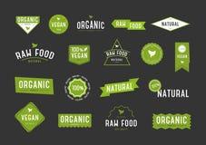 Ensemble de labels organique Divers logo de collection pour des cosmétiques ou des produits d'eco illustration stock