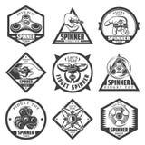 Ensemble de labels populaire de fileur de vintage illustration de vecteur