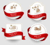 Ensemble de labels pour le vin Photo stock