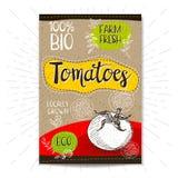 Ensemble de labels tirés par la main nourriture, épices Photos libres de droits