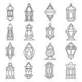Ensemble de lanterne de Ramadan Images stock