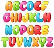 Ensemble de lettre colorée d'alphabets sur un fond blanc illustration de vecteur