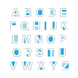 Ensemble de lettres abstraites d'alphabet Photos libres de droits
