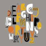 Ensemble de lettres anglaises décoratives illustration libre de droits