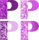Ensemble de lettres P illustration de vecteur