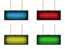 Ensemble de lightboxes Photographie stock libre de droits