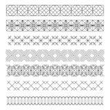 Ensemble de ligne conception géométrique elements55 de vintage de hippie illustration stock