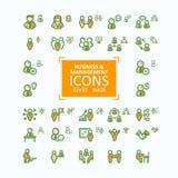 Ensemble de ligne fine icônes, collection d'illustrations de vecteur de gens d'affaires d'icônes, gestion du personnel Photo stock
