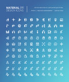 Ensemble de ligne matérielle icônes de conception Photographie stock