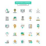 Ensemble de ligne plate moderne icône Image libre de droits