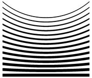 Ensemble de lignes avec le niveau différent de la déformation Geome abstrait Photo libre de droits