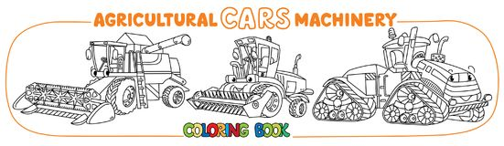 Ensemble de livre de coloriage de machines agricoles