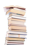 Ensemble de livres d'isolement sur un blanc Photographie stock libre de droits
