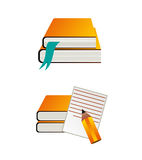 Ensemble de livres de vecteur Image stock