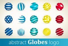 Ensemble de logo abstrait de globes Photos libres de droits