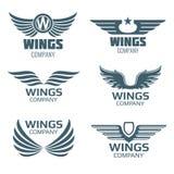 Ensemble de logo d'ailes de vecteur Image libre de droits