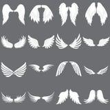Ensemble de logo d'Angel Wing de vecteur Société à ailes de logo Placez d'Angel Wing mignon illustration stock