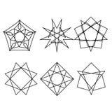 Ensemble de logo d'icône de modèle de Geometryc Images libres de droits