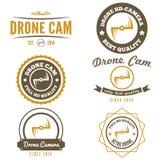 Ensemble de logo, de label, d'emblème ou de logotype pour le bourdon Photo libre de droits