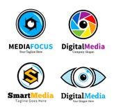 Ensemble de logo de media, d'icônes et d'éléments futés de conception illustration de vecteur