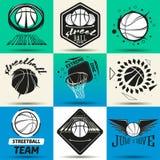 Ensemble de logo de Streetball Photos libres de droits