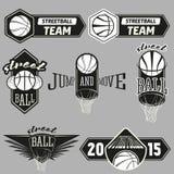 Ensemble de logo de Streetball Photo stock
