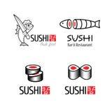 Ensemble de logo de vecteur de sushi Illustration de Vecteur