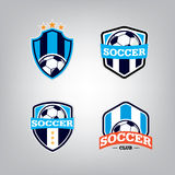 Ensemble de Logo Design Template du football, collection d'identité d'équipe d'insigne du football Photo stock