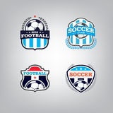 Ensemble de Logo Design Template du football, collection d'identité d'équipe d'insigne du football Photo libre de droits