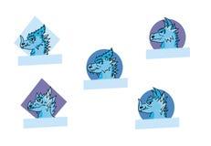 Ensemble de logo de dragon Image libre de droits