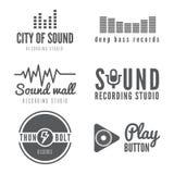 Ensemble de logo, insigne, label, autocollant, emblème, copie Images libres de droits