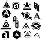 Ensemble de Logo Letters A Photos libres de droits