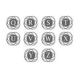 Ensemble de logo de lettre avec le fond de cercle d'infini Photo stock