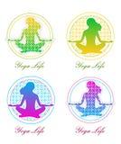 Ensemble de logo de yoga illustration de vecteur