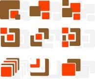 Ensemble de logos Photographie stock