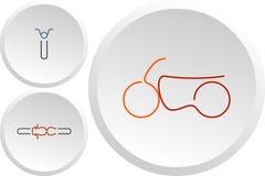 Ensemble de logos de couleur de couperet de sport Photos stock