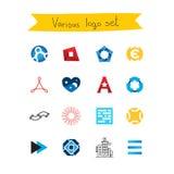 Ensemble de logos de vecteur Photos libres de droits