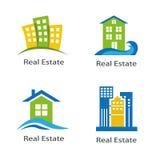 Ensemble de logos des immobiliers