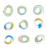 Ensemble de logos swirly grunges Photographie stock