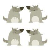 Ensemble de loups illustration libre de droits