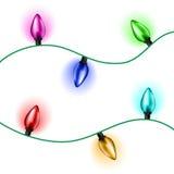 Ensemble de lumière de Noël Image libre de droits