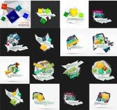 Ensemble de lumière, option de papier de conception infographic Photo libre de droits