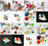 Ensemble de lumière, option de papier de conception infographic Image libre de droits